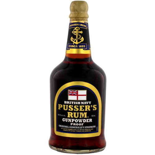 Pussers Rum Gunpowder Proof (Black Label) 54,5% vol. 0,7l