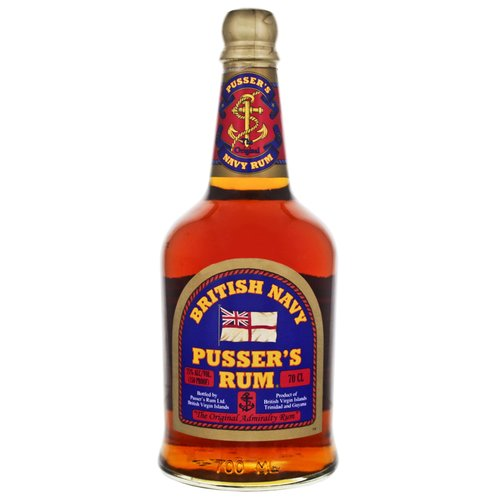 Pussers British Navy Rum Overproof (Green Label) 75% vol. 0,7l