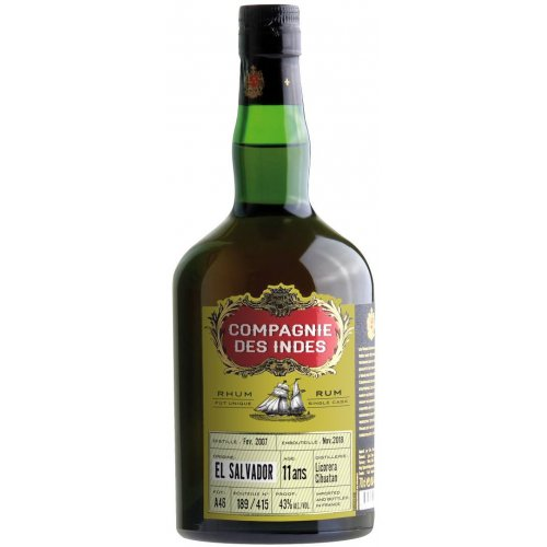 Compagnie des Indes  El Salvador 11 (Cihuatan) - Single Cask 43% vol. 0,7l