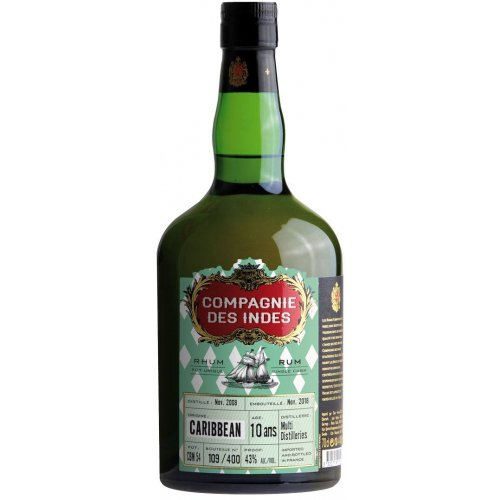 Compagnie des Indes Caribbean 10 (Multi Distilleries) 43% vol. 0,7l