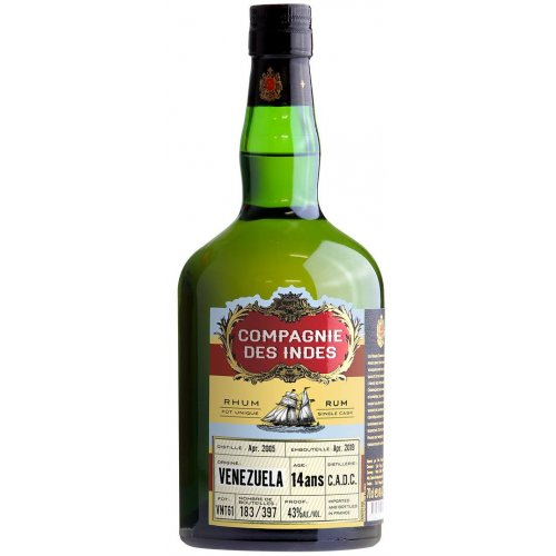 Compagnie des Indes Venezuela 14 (C.A.D.C.) - Single Cask 43% vol. 0,7l